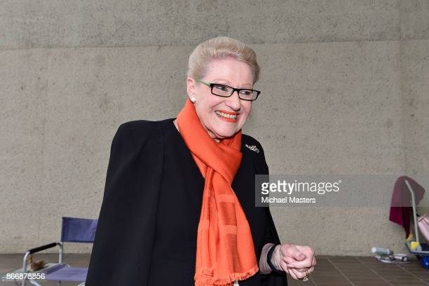 Former Speaker of the Australian House of Representatives Bronwyn Bishop is seen outside the High Court of Australia on October 27 2017 in Canberra...