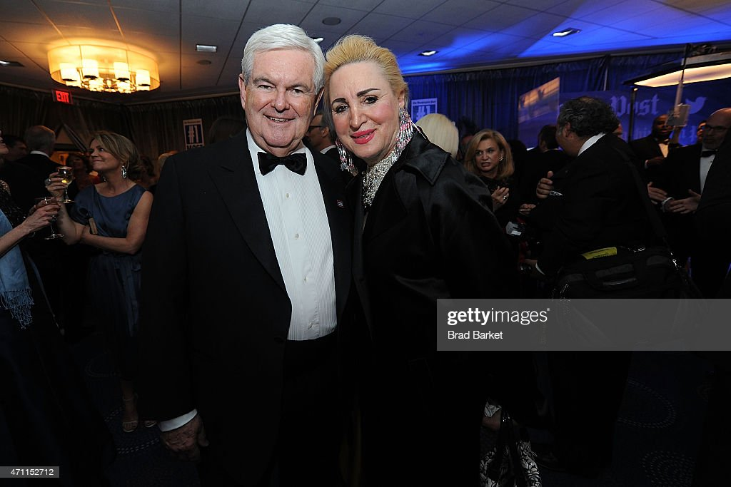 Former Speaker of the U.S. House of Representatives Newt Gingrich(L) attends The Washington Post White House Correspondents' Pre-Dinner Reception at The Washington Hilton on April 25, 2015 in Washington, DC.