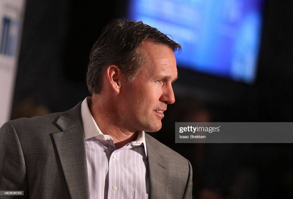 Former speed skater <a gi-track='captionPersonalityLinkClicked' href=/galleries/search?phrase=Dan+Jansen&family=editorial&specificpeople=235919 ng-click='$event.stopPropagation()'>Dan Jansen</a> arrives at the 13th annual Michael Jordan Celebrity Invitational gala at the ARIA Resort & Casino at CityCenter on April 4, 2014 in Las Vegas, Nevada.