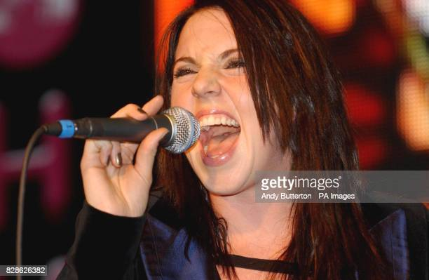 Former Spice Girl and solo artist Mel C performs her comeback single 'Here It Comes again' at HMV in London's Oxford Street 13/05/03 former Spice...