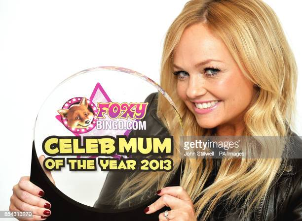 Former Spice Girl Emma Bunton poses with her 'Foxy Bingo Celebrity Mum of the Year' award The mum of two topped the poll which is voted for by the...