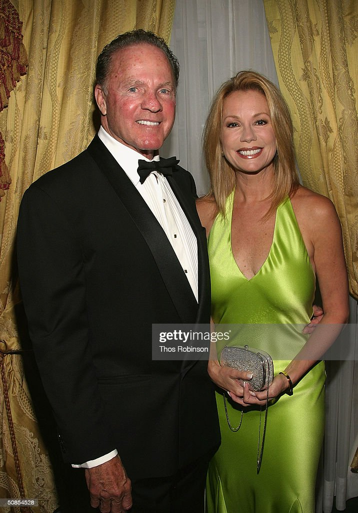 Former Sportcaster Frank Gifford and Television personality Kathy Lee Gifford attend the Bal Du Prentemps Benefit for the Parkinsons Disease Foundation on May 18, 2004 in New York City.