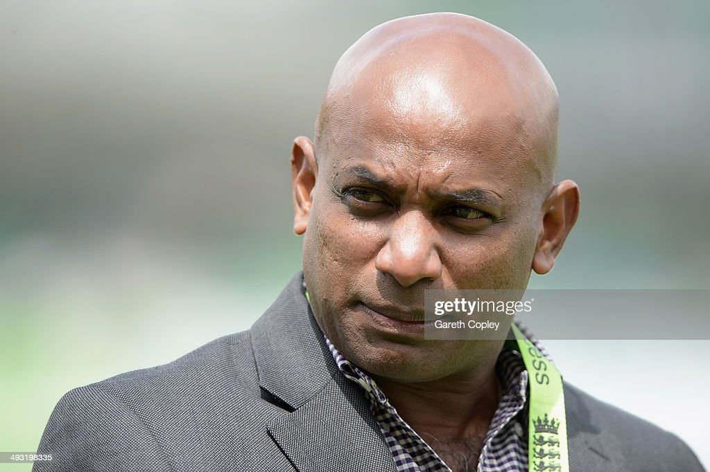 Former Sri Lanka batsman Sanath Jayasuriya during the 1st Royal London One Day International match between England and Sri Lanka at The Kia Oval on...