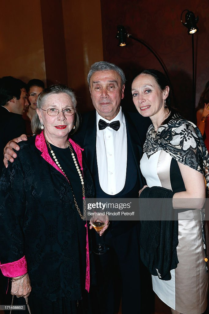 Former Star Dancer of Opera de Paris Ghislaine Thesmar with her husband Choreographer Pierre Lacotte and Director of School Dance of Opera de Paris Elisabeth Platel attend Gala of AROP at Opera Garnier with representation of 'La Sylphide' on June 24, 2013 in Paris, France.