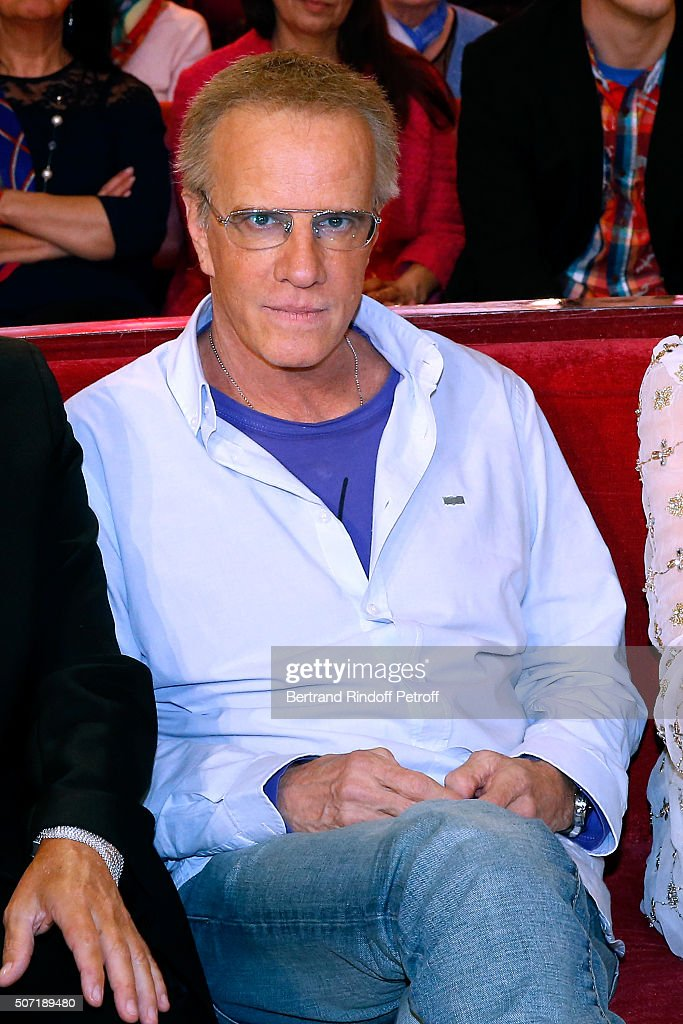 Former student of Main Guest of the show Michel Bouquet, Actor <a gi-track='captionPersonalityLinkClicked' href=/galleries/search?phrase=Christophe+Lambert&family=editorial&specificpeople=240500 ng-click='$event.stopPropagation()'>Christophe Lambert</a> attends the 'Vivement Dimanche' French TV Show at Pavillon Gabriel on January 27, 2016 in Paris, France.