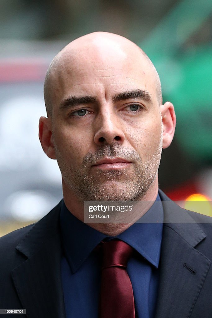 Former Sunday Mirror journalist Dan Evans arrives at the Royal Courts of Justice on March 12 - former-sunday-mirror-journalist-dan-evans-arrives-at-the-royal-courts-picture-id465946704