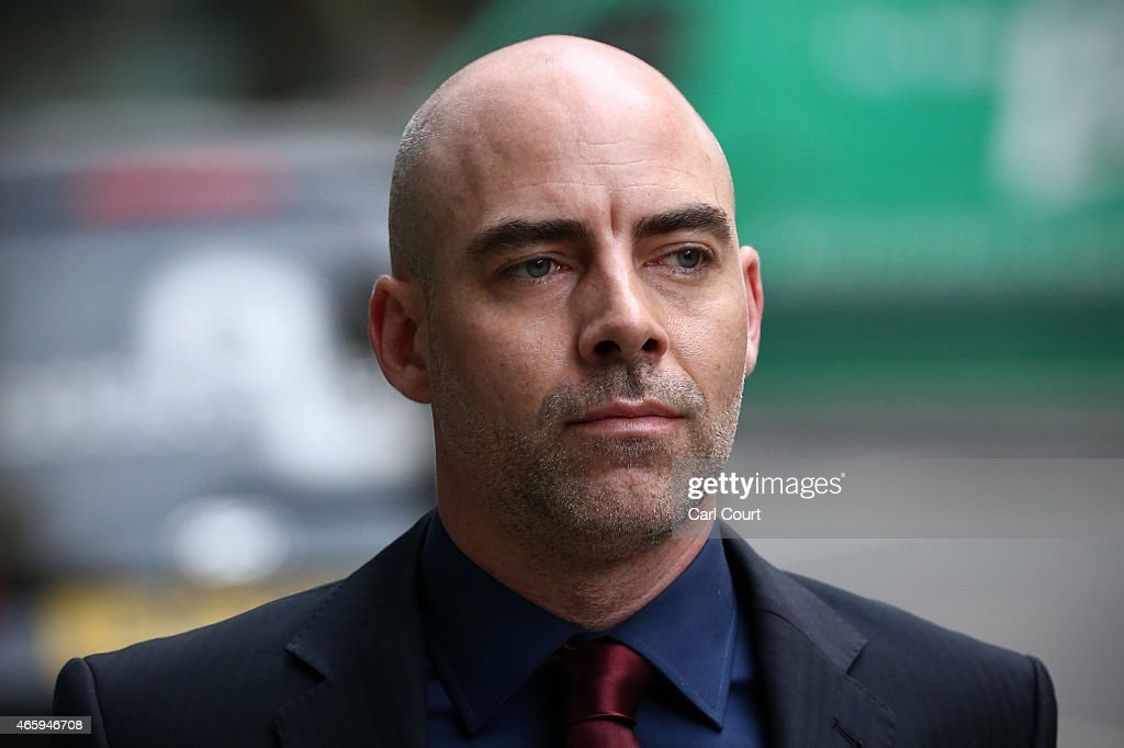 Former Sunday Mirror journalist Dan Evans arrives at the Royal Courts of Justice on March 12 - former-sunday-mirror-journalist-dan-evans-arrives-at-the-royal-courts-picture-id465946708