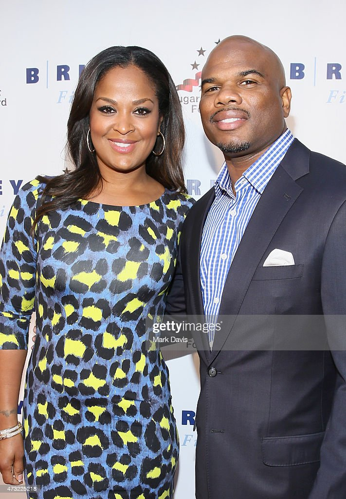 Former Super Middleweight Champion Laila Ali and former NFL player Curtis Conway attend B Riley Co And Sugar Ray Leonard Foundation's 6th Annual 'Big...
