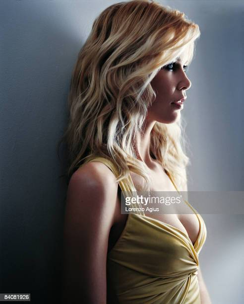 Former supermodel Claudia Schiffer poses during a portrait shoot on February 1 2004 in Germany