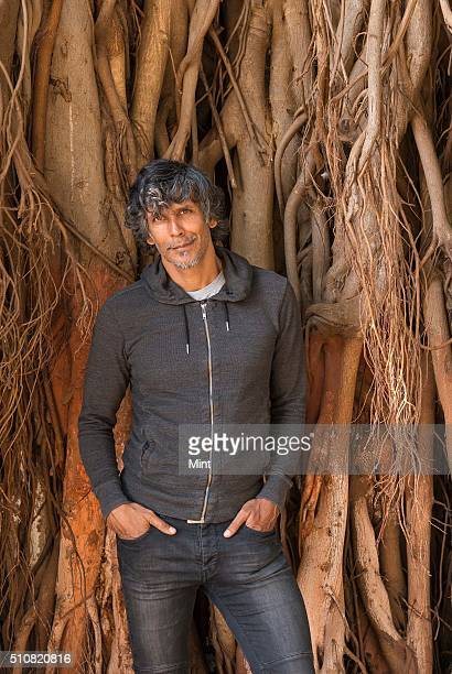 Former supermodelturnedfilm producer and ace runner Milind Soman during an exclusive interview at a Shivaji Park Cafe Coffee Day on February 8 2016...