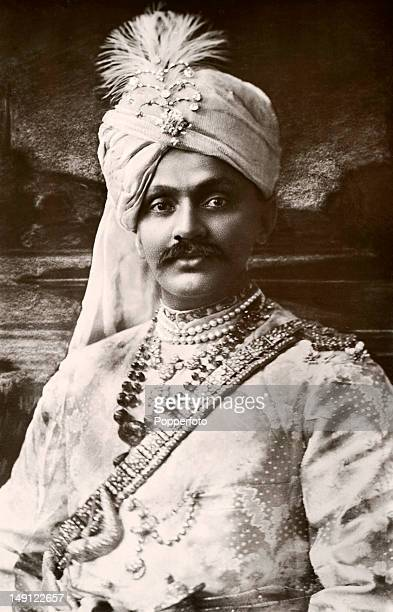 Former Sussex and England cricketer Kumar Shri Ranjitsinhji now the Maharaja Jam Sahib of Nawanagar circa 1908