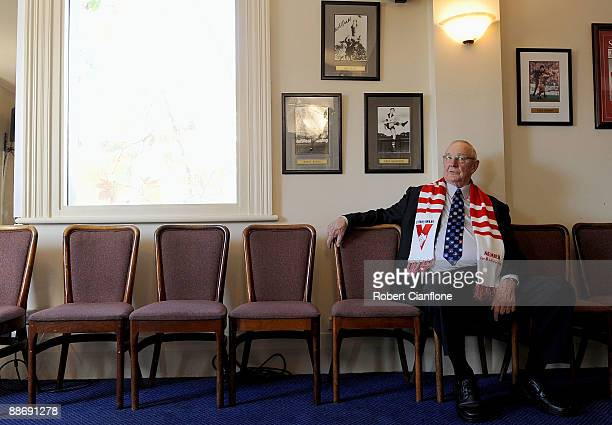 Former Swans player Fred Goldsmith is seen during a Sydney Swans AFL Hall Of Fame media session held at The Rising Sun Hotel on June 26 2009 in...