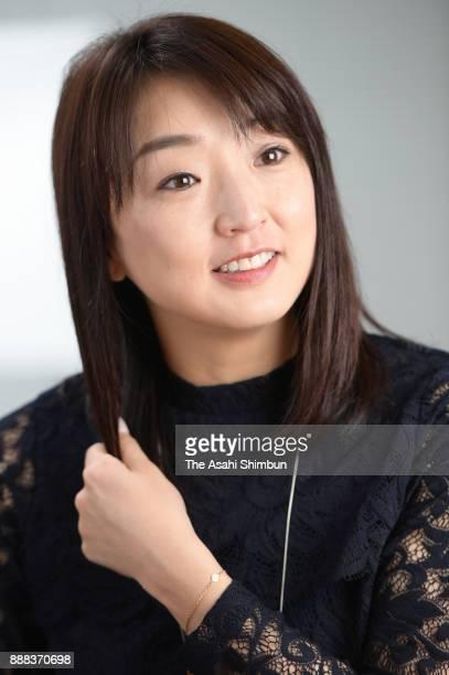 Former swimmer Kyoko Iwasaki speaks during the Asahi Shimbun interview on December 7 2017 in Tokyo Japan