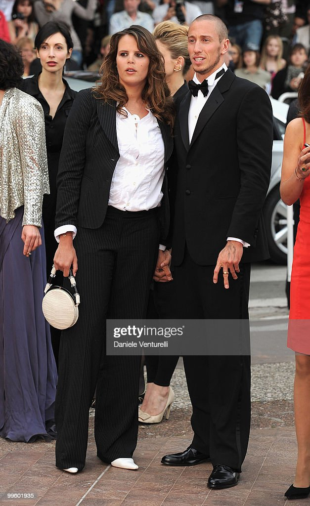 Former swimmer Laure Manaudou and swimmer Frederick Bousquet attend the 'The Princess of Montpensier' Premiere held at the Palais des Festivals...