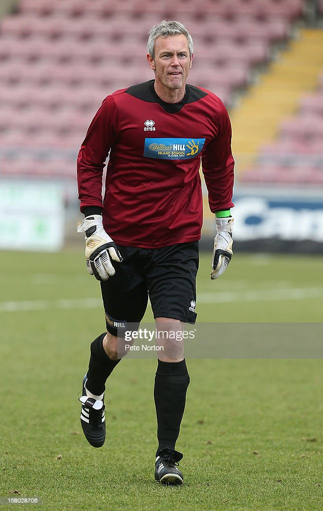 Former swimmer Mark Foster in action during the William Hill Foundation Cup Celebrity Charity Challenge Match at Sixfields on December 9, 2012 in Northampton, England.