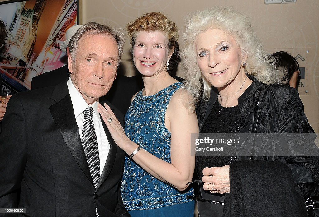Former talk show host <a gi-track='captionPersonalityLinkClicked' href=/galleries/search?phrase=Dick+Cavett&family=editorial&specificpeople=217287 ng-click='$event.stopPropagation()'>Dick Cavett</a>, wife Martha Rogers and singer <a gi-track='captionPersonalityLinkClicked' href=/galleries/search?phrase=Judy+Collins&family=editorial&specificpeople=208225 ng-click='$event.stopPropagation()'>Judy Collins</a> attend the 56th Annual New York Emmy Awards at Marriott Marquis Times Square on April 14, 2013 in New York City.