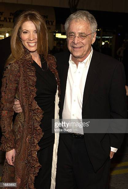 Former television game show host Chuck Barris and wife Mary attend the premiere of the film 'Confessions Of A Dangerous Mind' on December 11 2002 in...