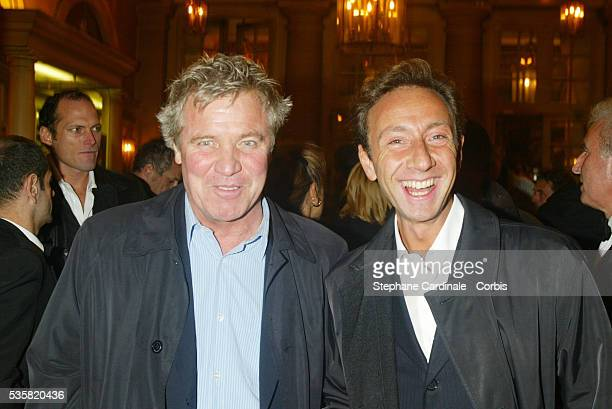 Former television presenter Bruno Masure with another TV presenter Stephane Bern
