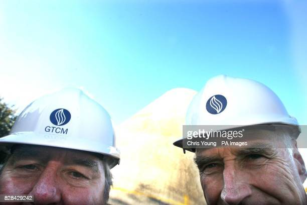 Former Television presenter Peter Snow and Peter Harrison a major benefactor to the National Maritime Museum visit the site of the new planetarium at...