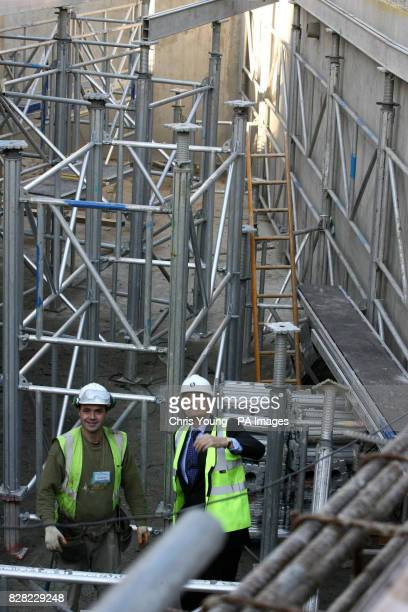 Former Television presenter Peter Snow visits the site of the new planetarium at the Royal Observatory in Greenwich south east London on Thursday...