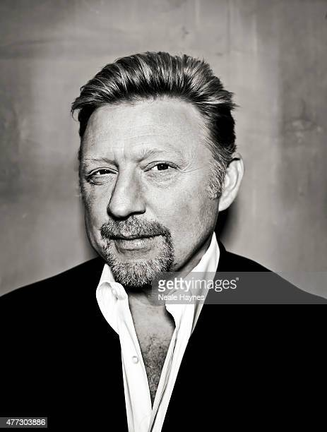 Former tennis champion Boris Becker is photographed for Waitrose magazine on March 3 2015 in London England