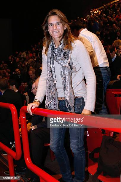 Former Tennis player Amelie Mauresmo attending Celine Dion's Concert at Palais Omnisports de Bercy on December 5 2013 in Paris France