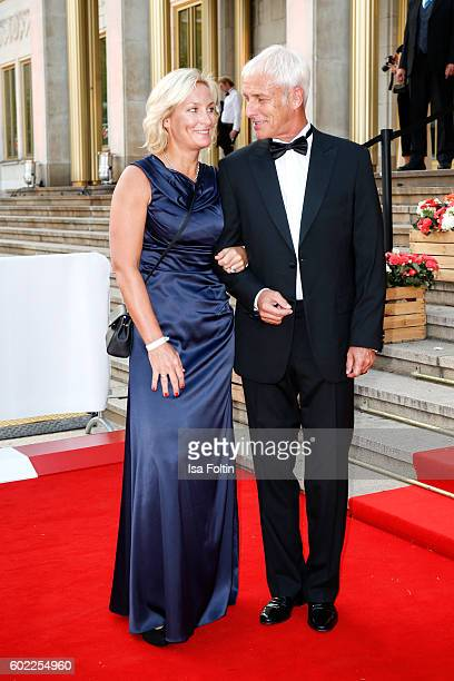 Former Tennis Player and Captain German Federation Cup Team Barbara Rittner and her boyfriend Matthias Mueller chairman Volkswagen AG attend the...