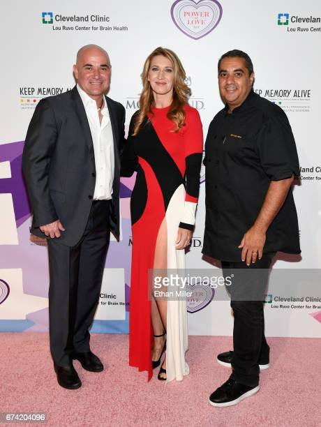 Former tennis player and Community Achievement Award recipient Andre Agassi and his wife former tennis player Steffi Graf and chef Michael Mina...