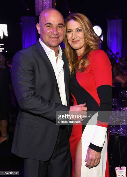 Former tennis player and Community Achievement Award recipient Andre Agassi and his wife former tennis player Steffi Graf attend the 21st annual Keep...