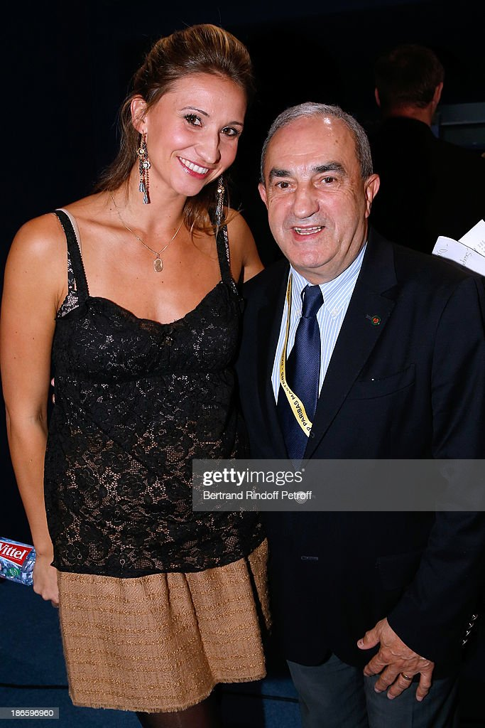 Former tennis player and journalist <a gi-track='captionPersonalityLinkClicked' href=/galleries/search?phrase=Tatiana+Golovin&family=editorial&specificpeople=178348 ng-click='$event.stopPropagation()'>Tatiana Golovin</a> and President of French Tennis Federation <a gi-track='captionPersonalityLinkClicked' href=/galleries/search?phrase=Jean+Gachassin&family=editorial&specificpeople=5701397 ng-click='$event.stopPropagation()'>Jean Gachassin</a> attend day five of BNP Paribas Tennis Masters held at Bercy on November 1, 2013 in Paris, France.
