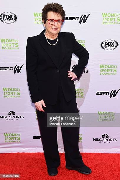Former Tennis player Billie Jean King attends the 36th Annual Salute to Women In Sports at Cipriani Wall Street on October 20 2015 in New York City