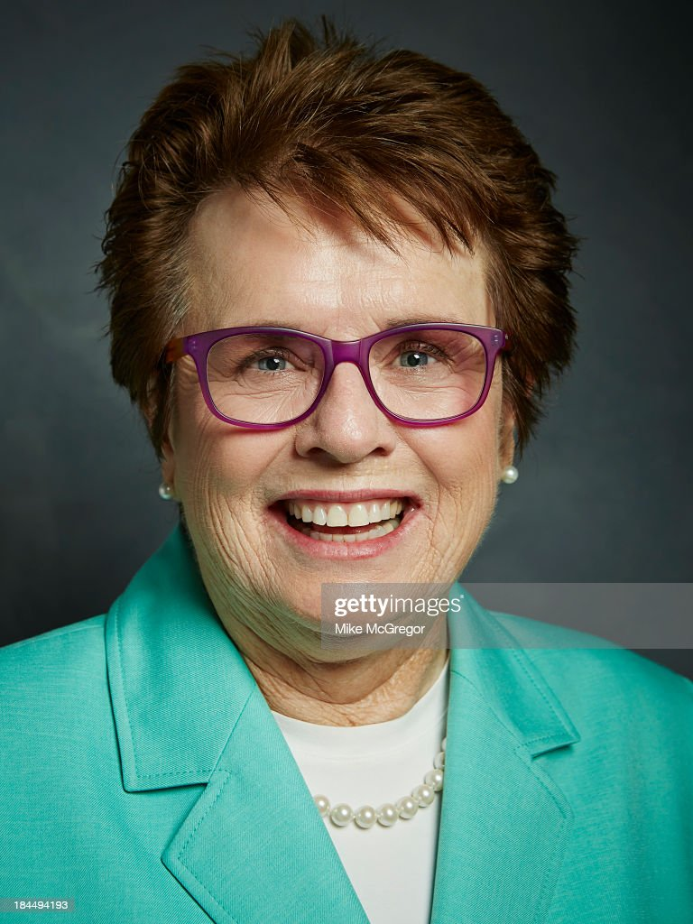 Former tennis player <a gi-track='captionPersonalityLinkClicked' href=/galleries/search?phrase=Billie+Jean+King&family=editorial&specificpeople=93147 ng-click='$event.stopPropagation()'>Billie Jean King</a> is photographed for Self Assignment on September 11, 2013 in New York City.