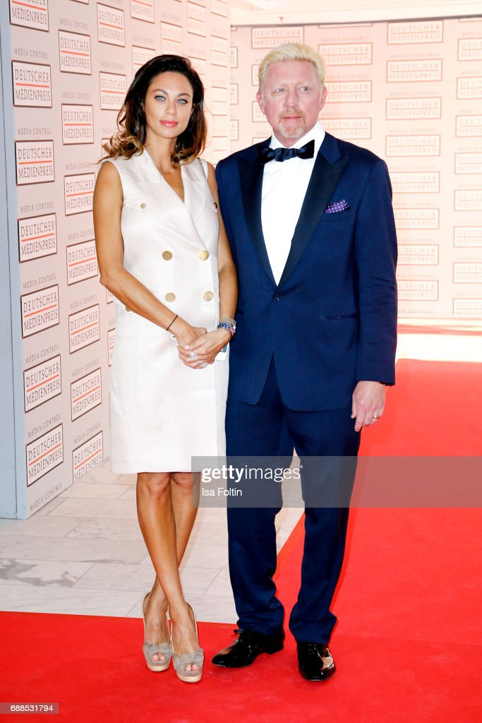 Former tennis player Boris Becker and his wife Lilly Becker during the German Media Award 2016 at Kongresshaus on May 25, 2017 in Baden-Baden, Germany. The German Media Award (Deutscher Medienpreis) has been presented annually since 1992 to honor personalities from public life.