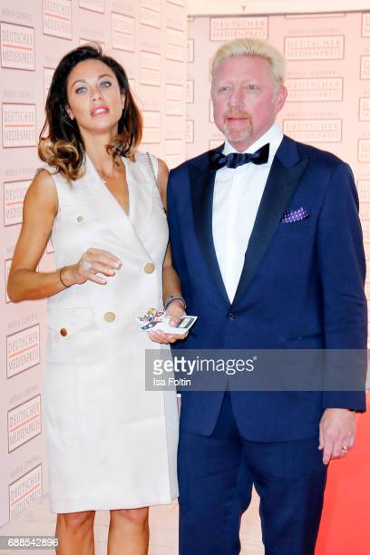 Former tennis player Boris Becker and his wife Lilly Becker during the German Media Award 2016 at Kongresshaus on May 25 2017 in BadenBaden Germany...