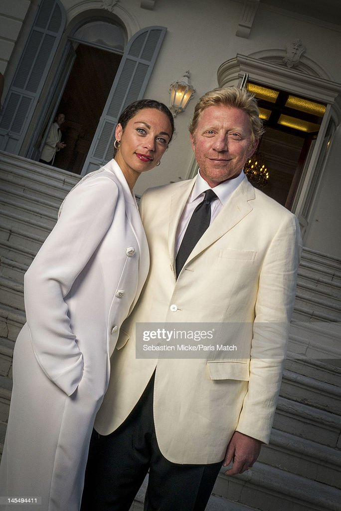 Former tennis player Boris Becker with wife Lilly Kerssenber, photographed at the amfAR Cinema Against AIDS gala, for Paris Match on May 24, 2012, in Cap d'Antibes, France.