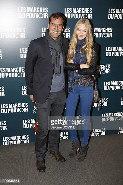 Former tennis player Cedric Pioline and guest attend 'The Ides of March' Paris Premiere at Cinema UGC Normandie on October 18 2011 in Paris France