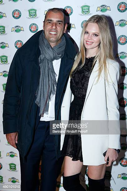 Former tennis player Cedric Pioline and his wife attend the Legends of Tennis Dinner Held at Restaurant Fouquet's whyle Roland Garros French Tennis...