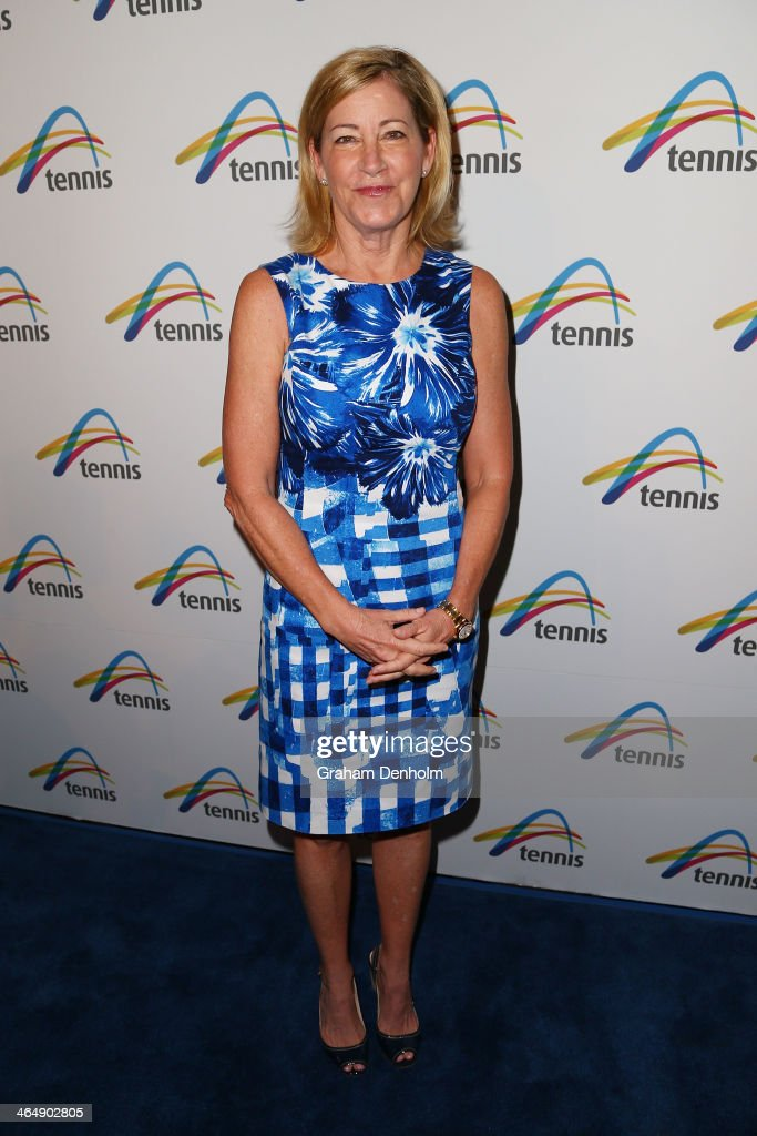 Former tennis player <a gi-track='captionPersonalityLinkClicked' href=/galleries/search?phrase=Chris+Evert+-+Tennis+Player&family=editorial&specificpeople=206410 ng-click='$event.stopPropagation()'>Chris Evert</a> arrives at the Legends Lunch during day 13 of the 2014 Australian Open at Melbourne Park on January 25, 2014 in Melbourne, Australia.