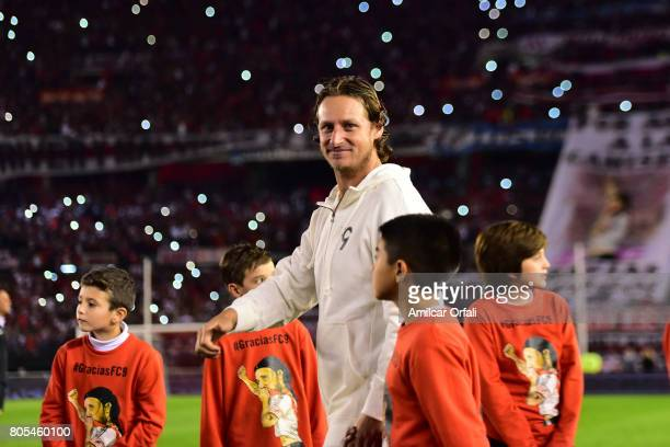 Former tennis player David Nalbandian is seen during Fernando Cavenaghi's farewell match at Monumental Stadium on July 01 2017 in Buenos Aires...