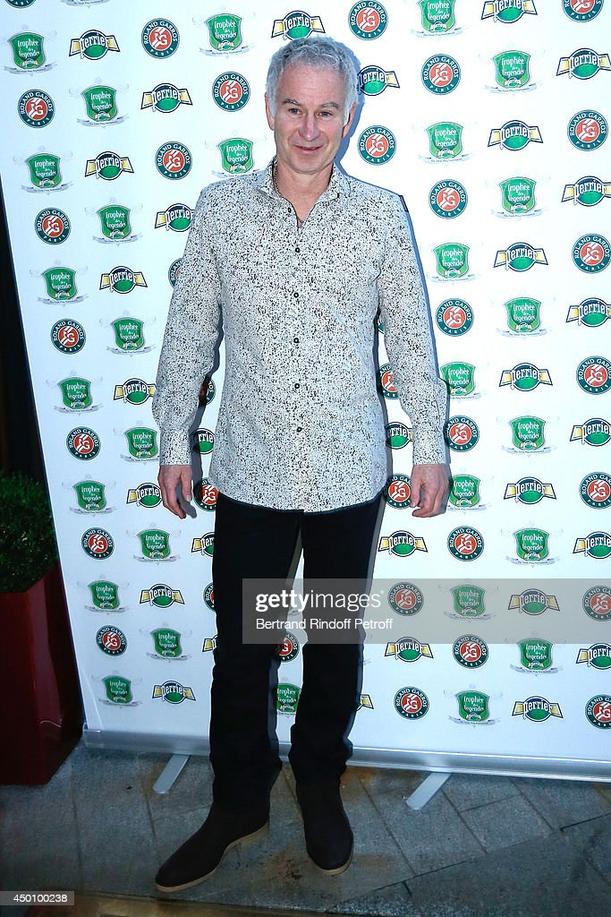 Former tennis player <a gi-track='captionPersonalityLinkClicked' href=/galleries/search?phrase=John+McEnroe&family=editorial&specificpeople=159411 ng-click='$event.stopPropagation()'>John McEnroe</a> attends the Legends of Tennis Dinner. Held at Restaurant Fouquet's whyle Roland Garros French Tennis Open 2014 on June 4, 2014 in Paris, France.