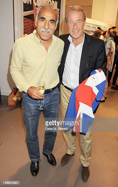 Former tennis player Mansour Bahrami and CEO of Lacoste Christophe Chenut attend the launch of Lacoste's new London Flagship store in Knightsbridge...