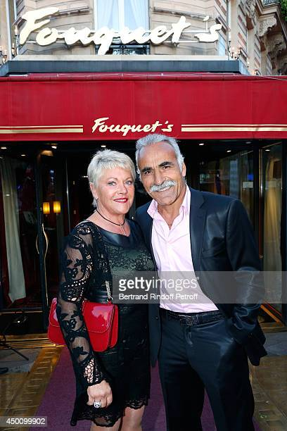 Former tennis player Mansour Bahrami and his wife Frederique attend the Legends of Tennis Dinner Held at Restaurant Fouquet's whyle Roland Garros...