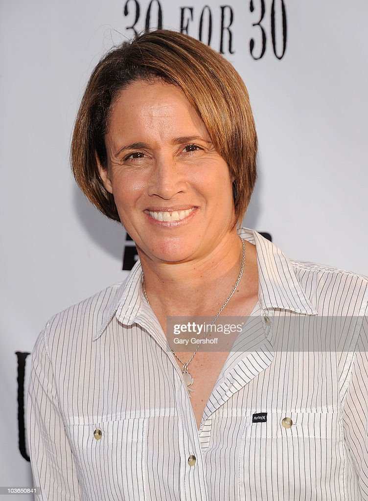 Former tennis player Mary Carillo attends the premiere of 'Unmatched' at Tribeca Cinemas on August 26 2010 in New York City