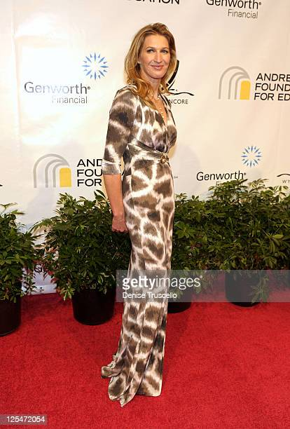 Former tennis player Steffi Graf arrives at the Andre Agassi Foundation for Education's 15th Grand Slam for Children benefit concert at the Wynn Las...