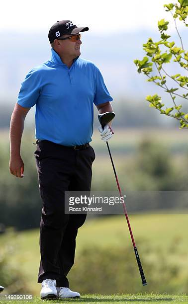 Former tennis player Yevgeny Kafelnikov of Russia on the 3rd tee during the second round of the Austrian Open at Diamond Country Club on July 26 2012...