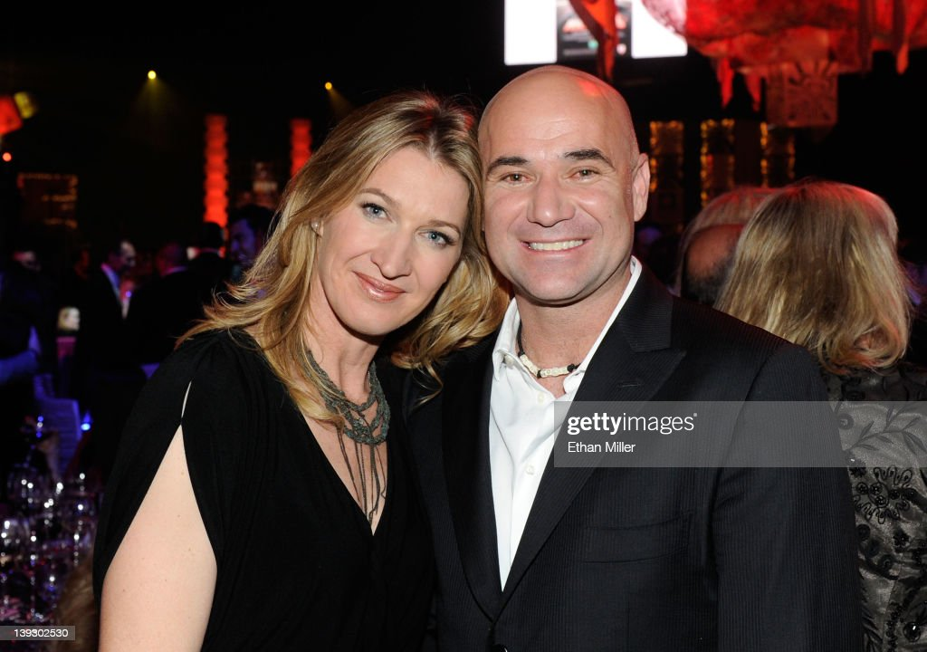 Former tennis players <a gi-track='captionPersonalityLinkClicked' href=/galleries/search?phrase=Steffi+Graf&family=editorial&specificpeople=204579 ng-click='$event.stopPropagation()'>Steffi Graf</a>f and <a gi-track='captionPersonalityLinkClicked' href=/galleries/search?phrase=Andre+Agassi&family=editorial&specificpeople=157607 ng-click='$event.stopPropagation()'>Andre Agassi</a> attend the Keep Memory Alive foundation's 'Power of Love Gala' celebrating Muhammad Ali's 70th birthday at the MGM Grand Garden Arena February 18, 2012 in Las Vegas, Nevada. The event benefits the Cleveland Clinic Lou Ruvo Center for Brain Health and the Muhammad Ali Center.