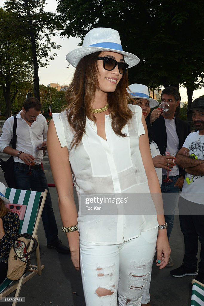 Former tennis player/singer Charlene Vanneste attends the 'Fiat Italian Beach' party hosted by Technikart and Crazy Baby at The Motor Village on July 16, 2013 in Paris, France.