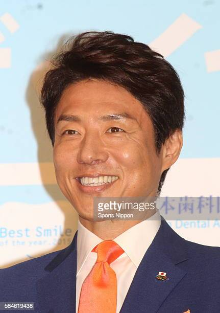 Former tennis player/TV personality Shuzo Matsuoka attends the 'Best Smile of the year 2015' awards ceremony on November 9 2015 in Tokyo Japan