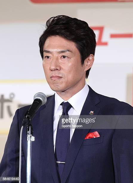 Former tennis player/TV personality Shuzo Matsuoka attends the UCan Buzzword of the year 2015 awards ceremony on December 1 2015 in Tokyo Japan