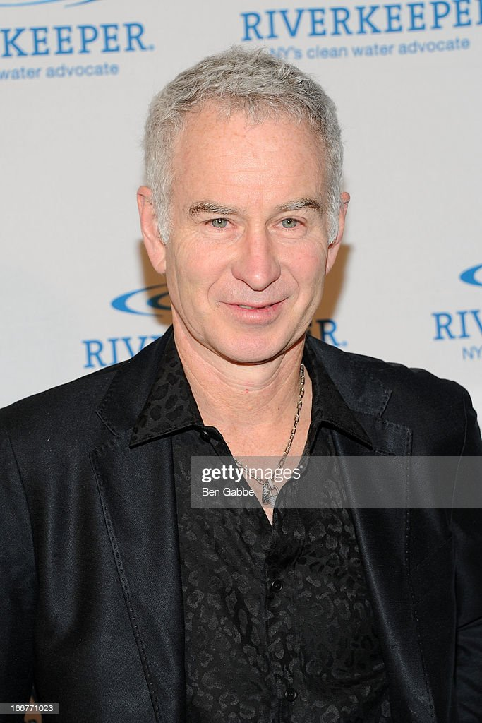 Former tennis pro <a gi-track='captionPersonalityLinkClicked' href=/galleries/search?phrase=John+McEnroe&family=editorial&specificpeople=159411 ng-click='$event.stopPropagation()'>John McEnroe</a> attends the 2013 Riverkeeper's Fishermen's Ball at Pier 60 on April 16, 2013 in New York City.